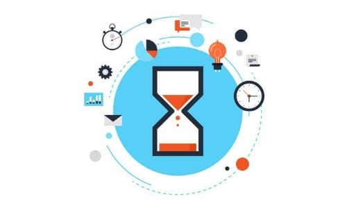 hourglass flat design